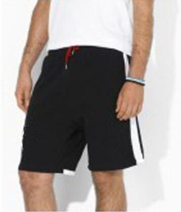 Vida nova homens sólidos polo calções grande pônei bordado algodão moda casual calças curtas esporte americano swimwear preto verde