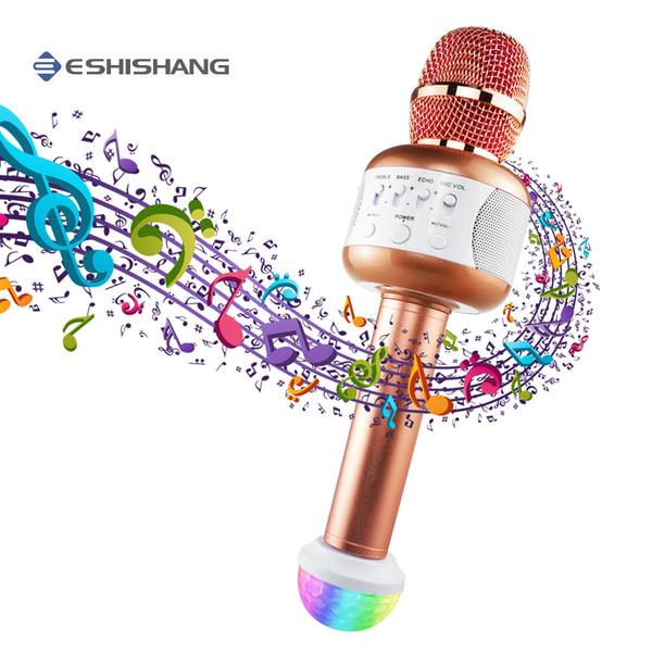 Altoparlante professionale Microfono per microfono Karaoke wireless Microfono portatile Mikrofon Supporto per canto KTV per smartphone