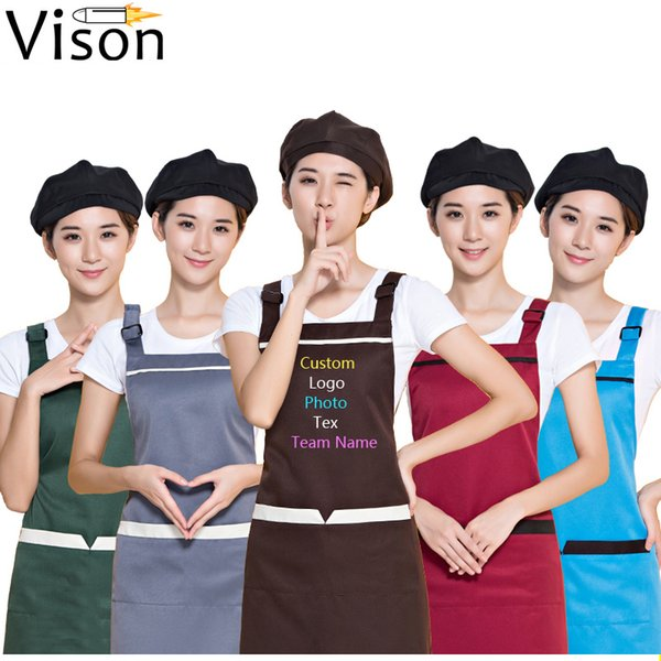 schürzen Korean Fashion Schürze Beauty Salon Beauty Nail Uniform Schürze Drucken Personalisierte Logo Frau