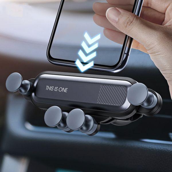 2020 supports de téléphone gravité du support voiture pour le téléphone en voiture Air Vent Support à pince magnétique Non Téléphone mobile Stand GPS Holder pour iPhone XS MAX Xiaomi