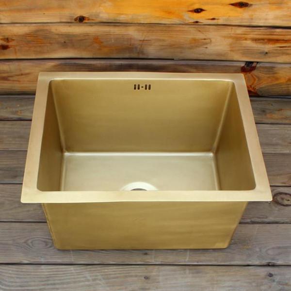 best selling Smooth surface brass bar sink Undermount sink single bowl brass kitchen sink