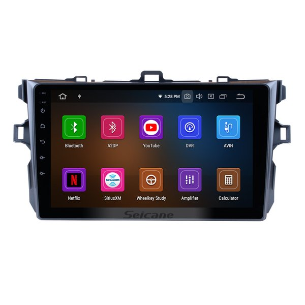 9 Inch Android 9.0 GPS Navi Car Stereo For 2006-2011 Toyota COROLLA with Bluetooth Radio HD 1024*600 touch screen WIFI support OBD2 car dvd