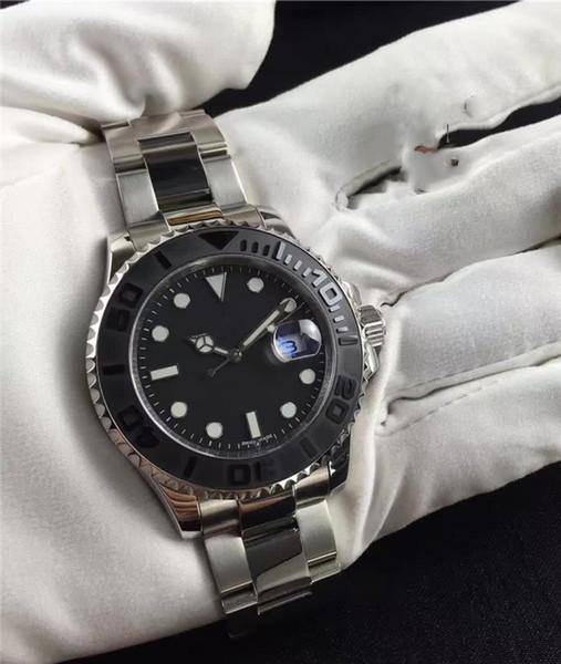 AAA Mens Luxury GMT Watch Ceramic Bezel ETA Automatic Mechanical Mens Black Dial Wrist Watches Free Shipping
