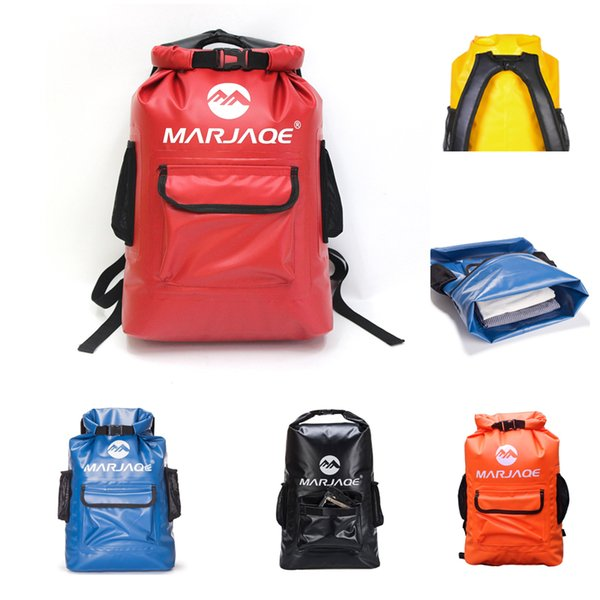 Dry Bag Waterproof Backpack Floating Bag 22L Compression Dry Sack Keep Gear For Kayaking Beach Rafting Swimming Boating Hiking Camping M246Y