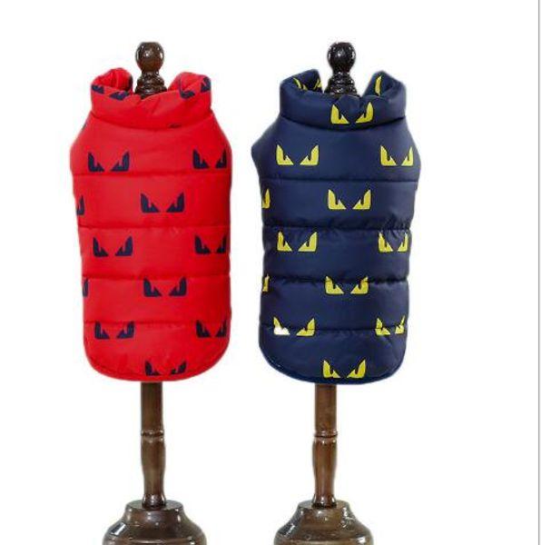 Pet dog clothes winter clothes new dog clothes cotton waistcoat small devil cotton vest