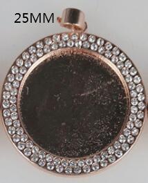 로즈 골드 라운드 25mm