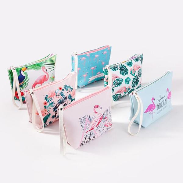 Flamingos Cosmetic Bag Butterfly Swan Star Lady 3D Printing Make Patterns Women Travel Make Up Bag Washing Bag Free Shipping