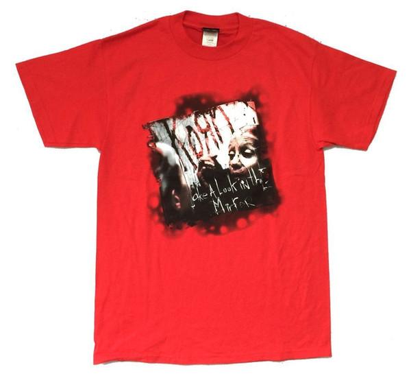 Korn jetez un oeil dans le miroir rouge T Shirt Nouveau Officiel Hommes Femmes Unisexe Mode tshirt Livraison gratuite noir
