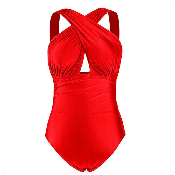 Swimsuit One Piece Cross Strappy Sexy Swimwear Back Cross Bikini Bathing Suit Beachwear Plus Size Swimwear Women High Waisted Bathing Suits