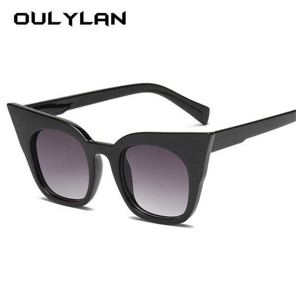 Oulylan Cat Eye Sunglasses Women Kids Cute Brand Designer Gradient Sun Glasses Ladies Vintage Eyewear Parent Child Models