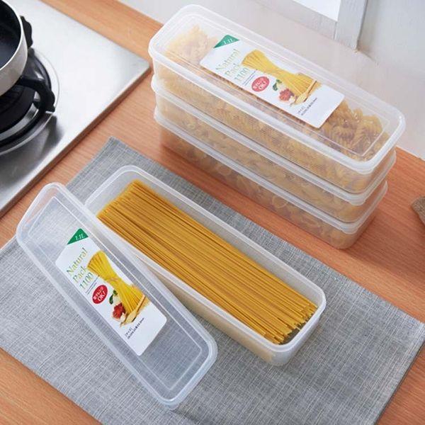 Japanese Noodle Fresh Box Hanging Noodles Pasta Seal Up Pot Fruits Plastic Accept Box Kitchen Refrigerator Storage Box