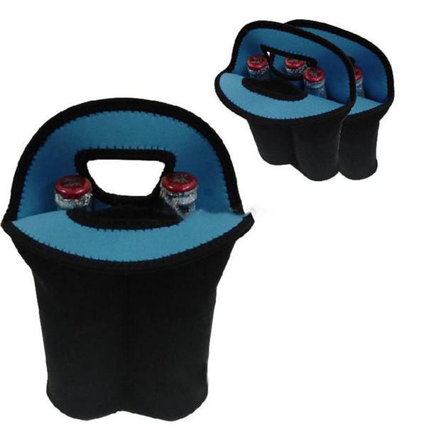 Neoprene Wine Bottle Hand-held Bag Wine Bottles Cooler Double Bottle Tote Bag Protective Sleeve Covers Pouch