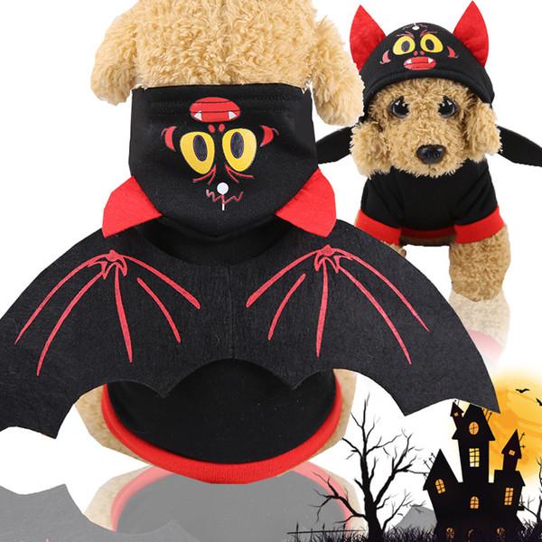 Uniforme di Halloween Cane Vestiti per animali Cucciolo Costume Tuta Festa di Halloween Cosplay Gioco di ruolo Uniforme Dressing Up Coat