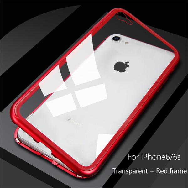 Mit Kleinverpackungskasten Hochwertigem Metall Ultra Magnetic Adsorption Telefonkasten für iPhone XS Max XR X 8 7 6 Plus Luxus Magnet Glasabdeckung
