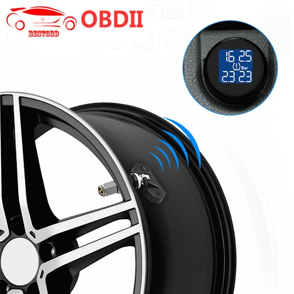 Tire Built-in TPMS TS61 Tire Pressure Monitoring System Tool Wireless Real-time Cigarette Lighter Plug Temperature Gauge