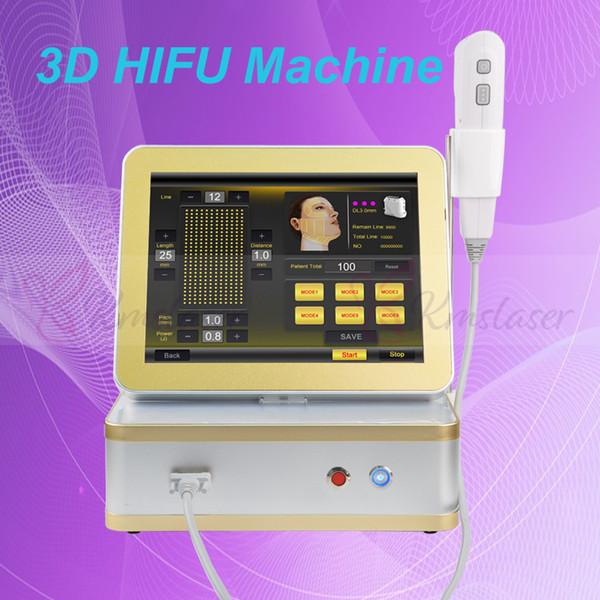 O novo dispositivo usa 8 cartuchos 12 linhas 3d hifu machine / face and body machine emagrecimento face lift para face lift e hifu body sculpture machine