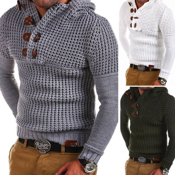 2019 Mens Zip Wool Sweater Pullover Long Sleeve Half-Zipper Sweater Jumper Knitwear Winter Cashmere Outerwears for Men