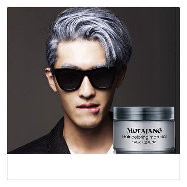 Großhandel Pflanzenextrakte Haarpomaden Natürliche Silber Grau Matte Frisur Wachs Für Party Frisuren Für Männer Frauen Leuchten Bunt Von