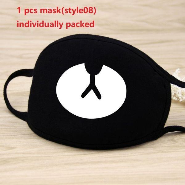 1pc maschera nera (style08)