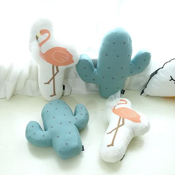 Cactus / Flamingo morbida Appease bambino cuscino decorazione domestica della stanza del bambino camera da letto / cuscini del divano Carino Fotografia Puntelli Bedding ripiene
