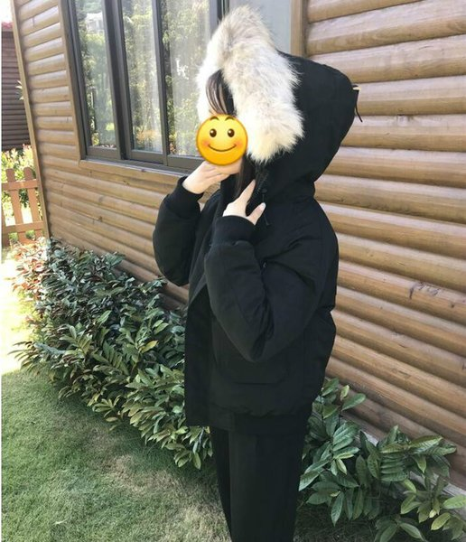 DHL Women Parkas WINTER CANADA Brand CHILLIWAC-1 Down & Parkas WITH HOOD/Snowdome jacket Real wolf Collar White Duck/GOOSE Outerwear & Coats