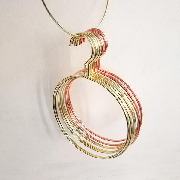 Hierro Arte Circular Cuadrado Percha Perchas de Oro Rosa Toalla Ropa Interior de Rack de Metal Duradero Popular de Gran Diámetro 3 4mdC1