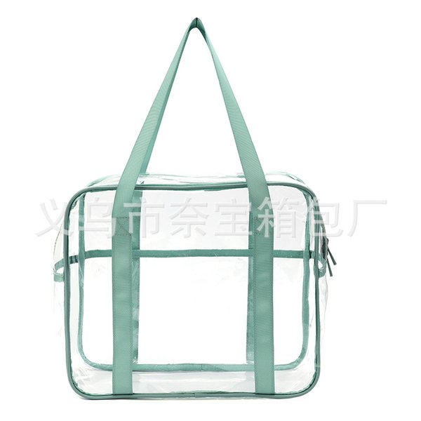 Le nouveau paquet d'admission de bain cosmétique Voyage étanche du sac de stockage de sac de PVC grande capacité de sac de lavage transparent