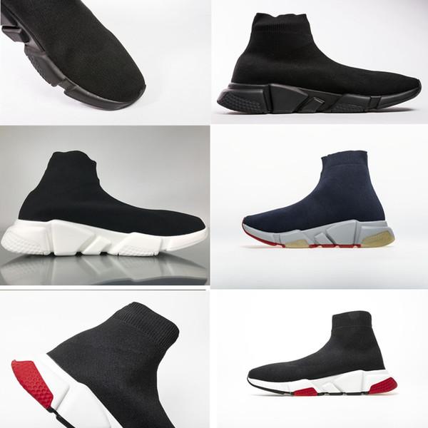 Chaussures de course de luxe Speed Trainer Sneakers de haute qualité triple S Chaussette Race Runners noir Chaussures hommes et femmes Chaussure de luxe