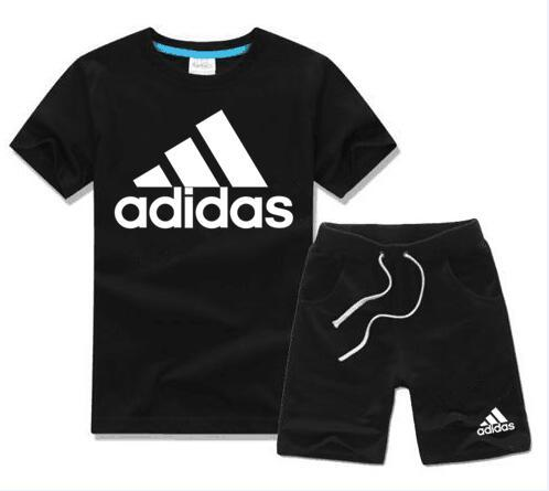 Brand Kids Sets 2-8T Children T-shirts And Shorts Pants Kids Tracksuits Children Sport Suit 2 Pcs/Sets Short Sleeve Sets summer