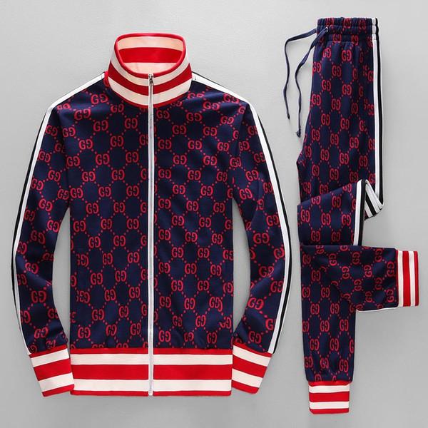 Survêtements de survêtement classique pour homme Costumes Costume de sport de luxe Hommes Hoodies Vestes Manteau Mens Medusa Sportswear Sweat Survêtement Veste se