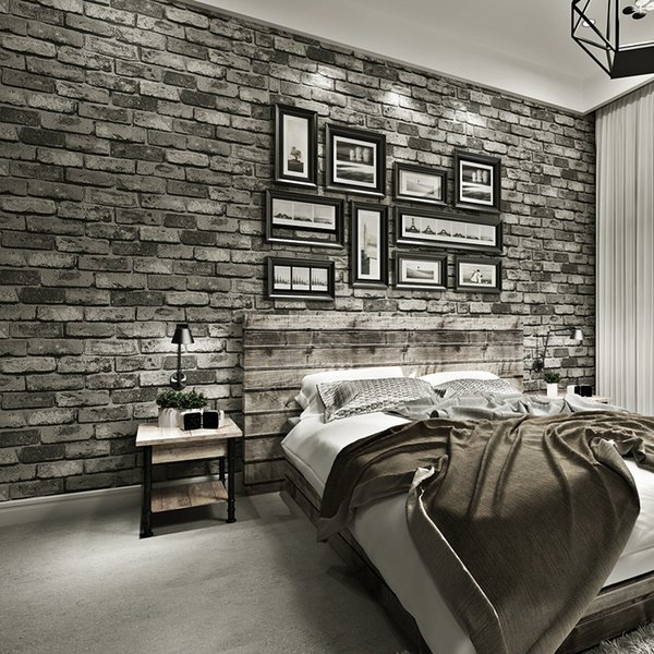 Vintage Textured Bricks Wallpaper 3D For Home Decor Embossed Wall paper Rolls For Bedroom Living Room Sofa TV Background