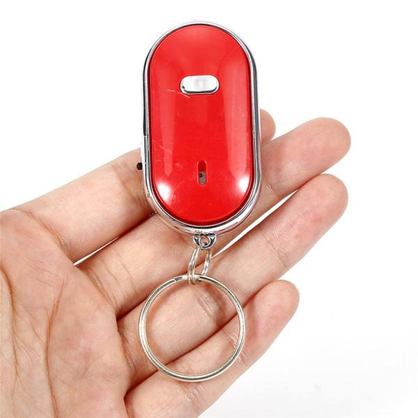 LED Anti-Lost Key Finder Find Locator Schlüsselbund Schlüsselbund Pfeifton Sound Control Durable Auto Car Styling Autozubehör