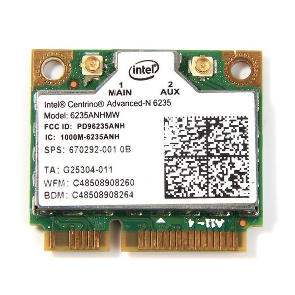 etworking Network Cards Dual Band 300Mbps Wireless Bluetooth 4.0 For Intel Centrino Advanced-N 6235 6235ANHMW Half Mini PCI-E Wifi Card 8...