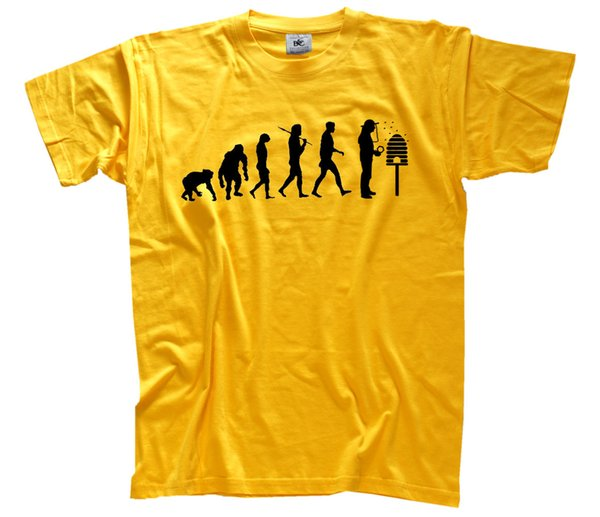 Standard Edition Beekeeper Evolution Bee-Keepers Honey Bees T-SHIRT S-XXXL Funny free shipping Unisex Casual tshirt