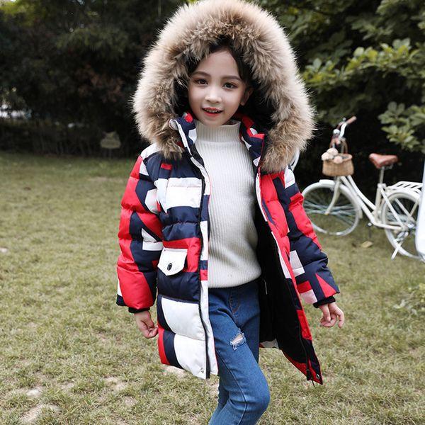 Pydownlake 2019 Kış Aşağı Ceket Kızlar Için Kapüşonlu Su Geçirmez Erkek Kış Ceket 5-12 Yıl Çocuklar Snowsuit Çocuk Kabanlar Parkas