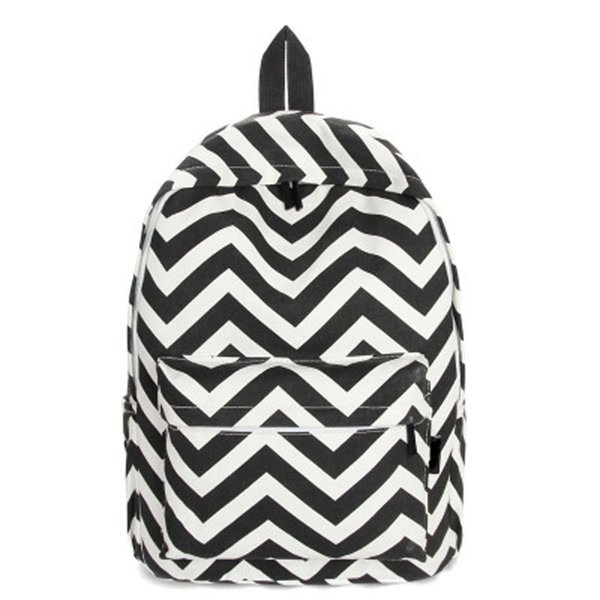 2019 Striped Pattern Canvas Backpacks Women School Bags For Teenager Girls Backpacks Female Casual Travel Bags Y266