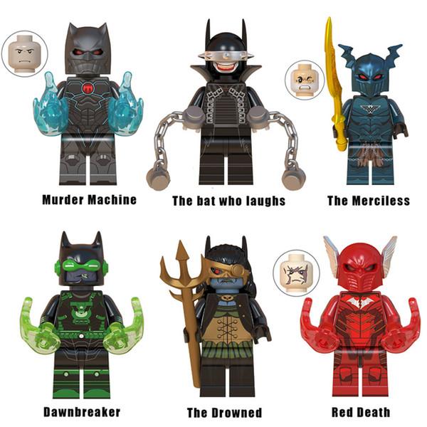Dark Nights Barbatos Murder Machine The Bat Who Laughs Merciless Dawnbreaker Drowned Red Death Dark Knight Batman Building Block Toy Figure