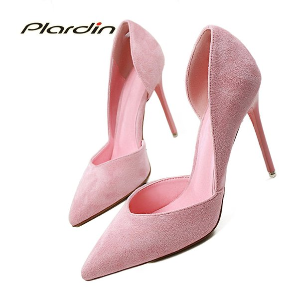 plardin 2019 summer shoes woman sweet women party wedding shallow mouth cut out two piece ladies shoes thin high heel pumps