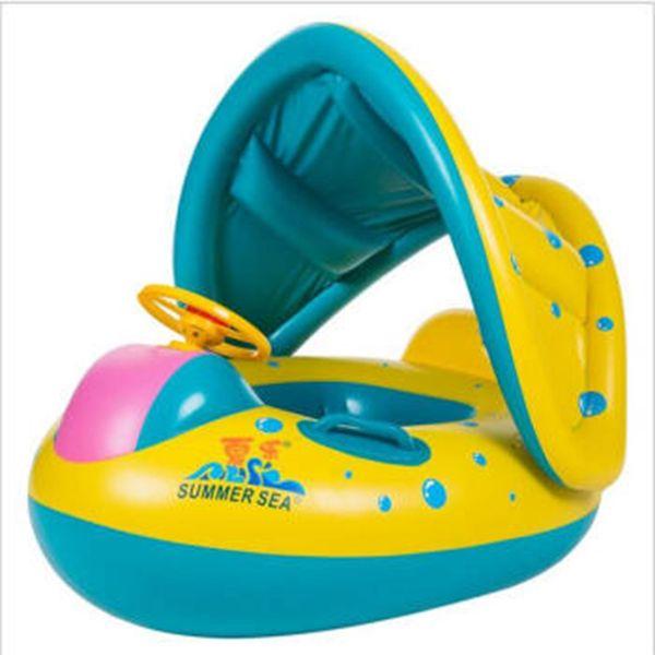 Baby Kids Summer Swimming Pool Swimming Ring Inflatable Swan Swim Float Water Fun Pool Toys Swim Ring Seat Boat Sport for 3-6Y