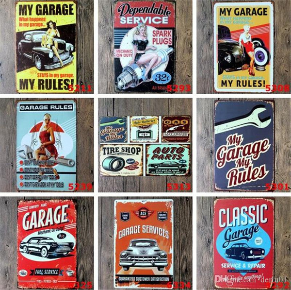 Fashion Vintage Metal Tin Signs For Wall Decor Route 66 Iron Paintings 30*20cm Metal Signs Tin Plate Pub Bar Garage Retro Home Decoration