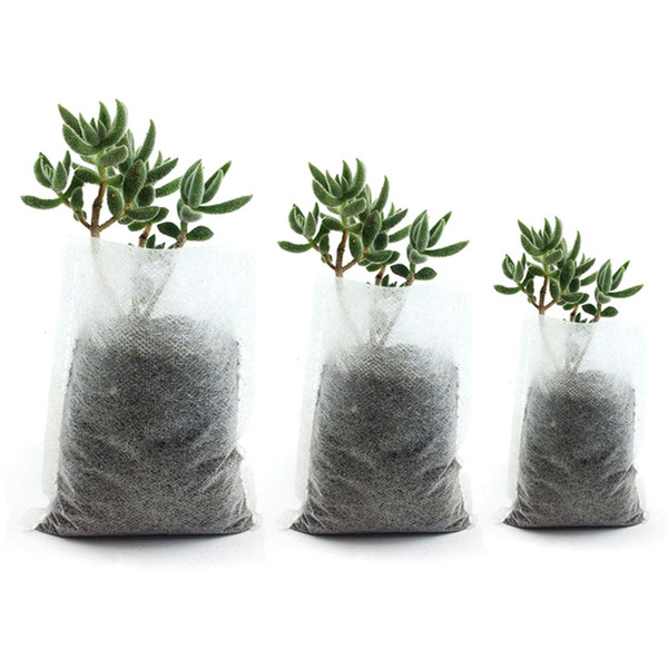400Pcs Mixed Biodegradable Plant Non-woven Nursery Pots Plant Grow Bags Fabric Seedling Pots Eco-Friendly Aeration Planting Bags