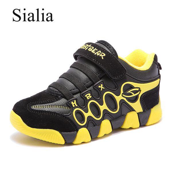 Boys Sialia Mesh Çocuklar Sneakers Çocuk Sneakers Kızlar Casual Ayakkabı HookLoop Nefes İlkbahar Sonbahar tenis Menino Ayakkabı