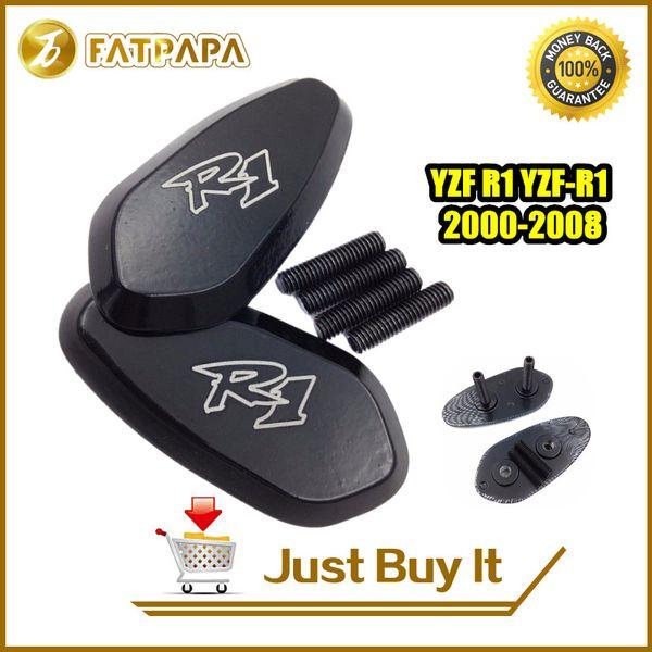 accesorios de la motocicleta del envío libre Placas de aluminio CNC R1 base del espejo para Yamaha YZF R1 YZF-R1 2000-2008 01 02 03 04 05 06 07