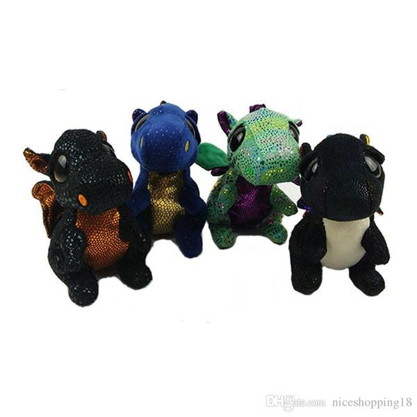 low price TY Beanie Boos Plush Toys 15CM Saffire Dragon Stuffed Animals Dolls Super Kawaii Big Eyes Doll Gift for Kids T414 HOT