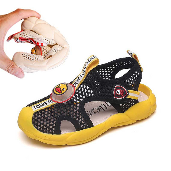 Garçons Mesh Sandals 2019 Été Enfants Mesh Cartoon Beach Chaussures Toddler Sandal Filles Sandales Non Slip Enfants Chaussures Noir Beige # 47