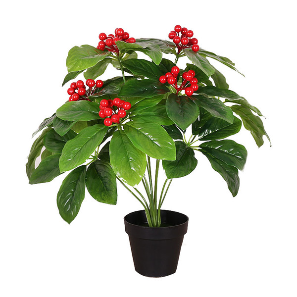 artificial 50cm rich fruit cherry tree without pot greenery plant plastic fake flower artificial plants for home decoration