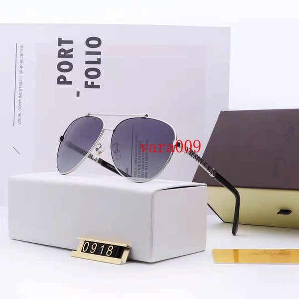 Luxury Sunglasses Evidence Sun Glasses Vintage Men Sunglasses Designer Sunglasse Shiny Gold Frame Women Sunglasses with Box L,V