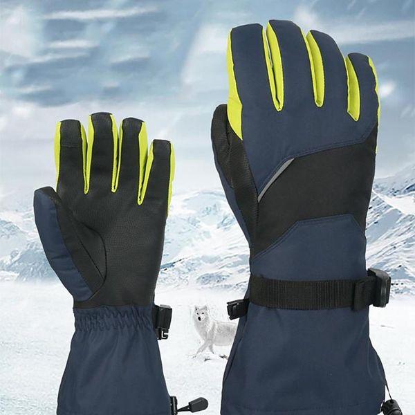 49d173521a27 Унисекс Водонепроницаемый Лыжный Сенсорный Экран Перчатки Ветрозащитный  Снегоход Сноуборд Зимние Теплые Тепловые Лыжные Перчатки
