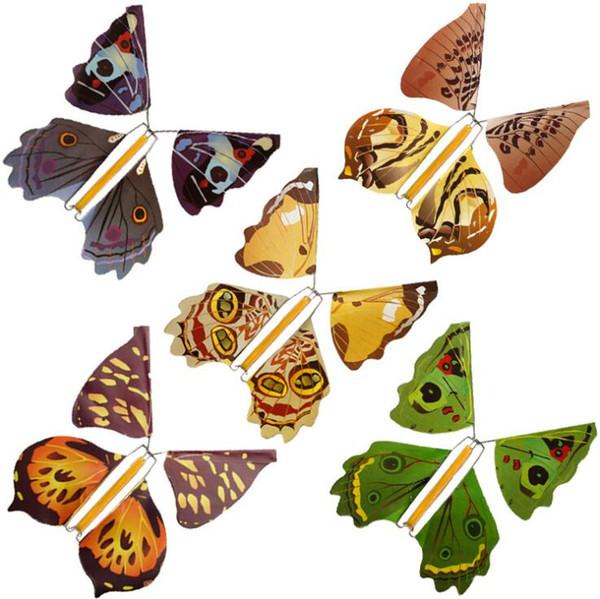 Magia borboleta voando mudança de mãos vazias borboleta liberdade close up truques de mágica crianças brinquedo engraçado gadgets novidade jogos ooa6651