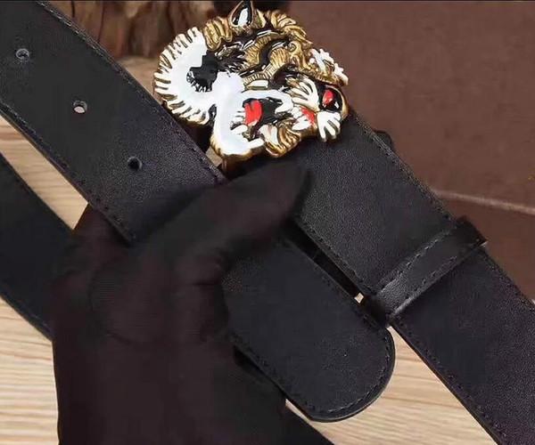 2019 cintura classica di alta qualità tigre fibbia cinture di lusso per gli uomini di rame drago fibbia cintura uomo e donna cintura in pelle cintura